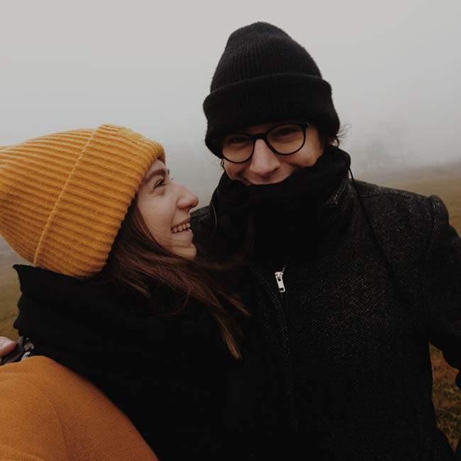 Agata i jej partner, góry sowie