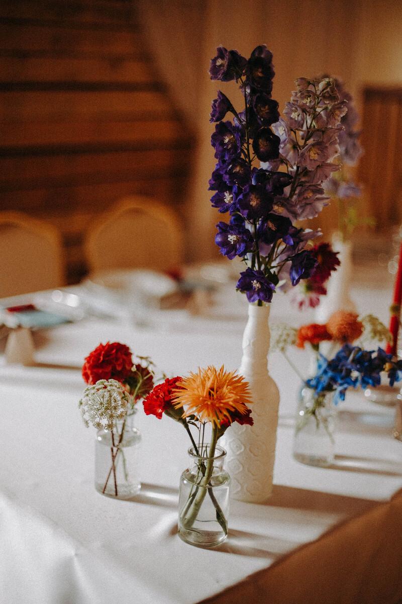 ślubny stół zbliżenie
